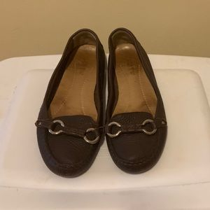 JCrew driving moccasins chocolate size 8